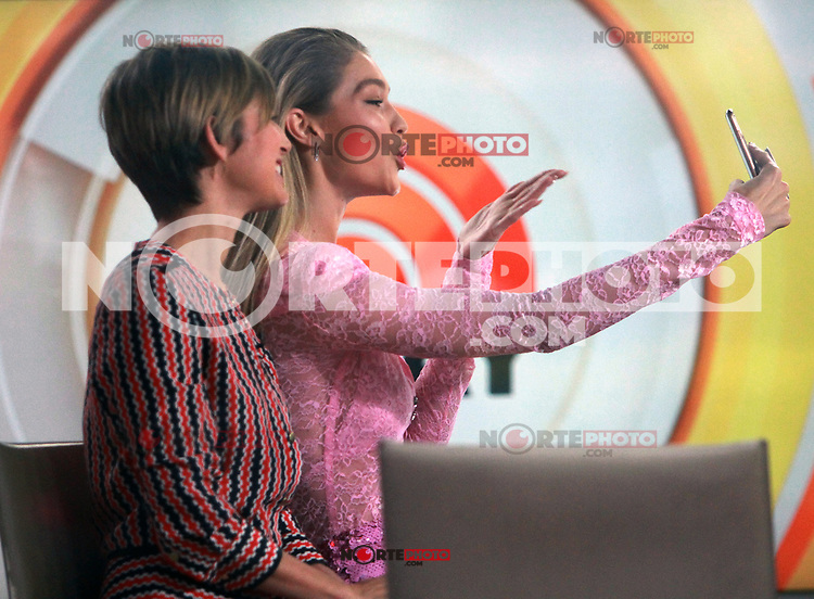 NEW YORK, NY - NOVEMBER 13: Gigi Hadid seen on NBC's Today Show In New York City on November 13, 2017. Credit: RW/MediaPunch /NortePhoto.com