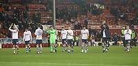Preston North End's players celebrate as te game ends<br /> <br /> Photographer Mick Walker/CameraSport<br /> <br /> The EFL Sky Bet Championship - Nottingham Forest v Preston North End - Saturday 8th December 2018 - The City Ground - Nottingham<br /> <br /> World Copyright © 2018 CameraSport. All rights reserved. 43 Linden Ave. Countesthorpe. Leicester. England. LE8 5PG - Tel: +44 (0) 116 277 4147 - admin@camerasport.com - www.camerasport.com