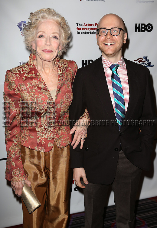 Holland Taylor & Benjamin Endsley Klein  attending the 2013 Actors Fund Annual Gala at the Mariott Marquis Hotel in New York on 4/29/2013...