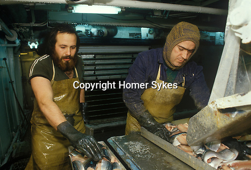 Ullapool Scotland. 1986. Loch Broom. A Bulgarian factory fishing boat
