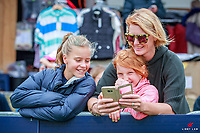 Face-timing in between horses during the GJ Gardner Homes CDI***FEI Grand Prix Freestyle (Title). 2018 NZL-Horse of the Year Show. Hastings. Sunday 18 March. Copyright Photo: Libby Law Photography