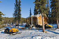 Windy Gap Recreational cabin, White Mountains National Recreation Area, Interior, Alaska.