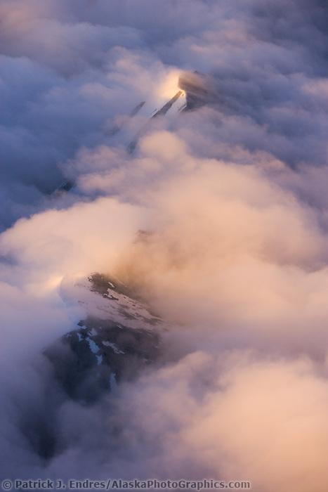 Mountain ridges surrounding Denali, Denali National Park, Alaska