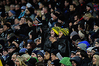 Fans in the grandstand during the Rugby Championship match between the NZ All Blacks and Argentina Pumas at Yarrow Stadium in New Plymouth, New Zealand on Saturday, 9 September 2017. Photo: Dave Lintott / lintottphoto.co.nz