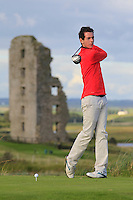 William Russell (Clandeboye) on the 13th tee during Round 2 of The South of Ireland in Lahinch Golf Club on Sunday 27th July 2014.<br /> Picture:  Thos Caffrey / www.golffile.ie