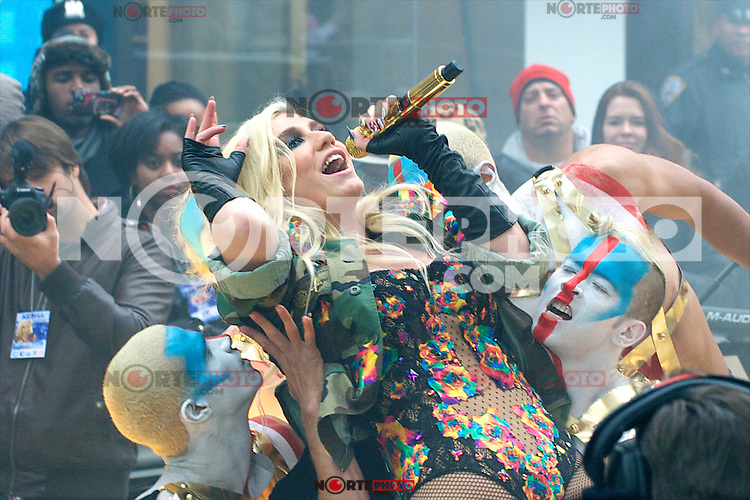 """NEW YORK, NY - NOVEMBER 20: Ke$ha performs On NBC's """"The Today Show"""" Thanksgiving Week Of Concerts on The Plaza at Rockefeller Center in New York City on November 20, 2012. Credit: mpi44/MediaPunch Inc. /NortePhoto"""
