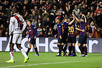 FC Barcelona's players celebrate goal during La Liga match between Rayo Vallecano and FC Barcelona at Vallecas Stadium in Madrid, Spain. November 03, 2018. (ALTERPHOTOS/A. Perez Meca)