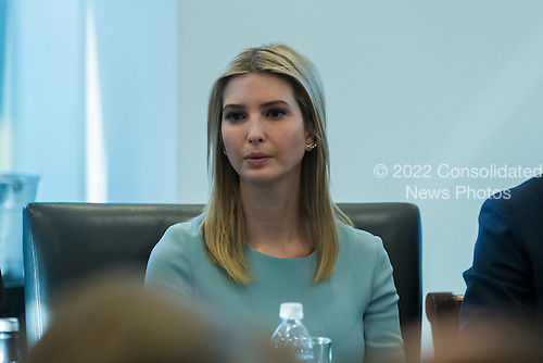 Ivanka Trumk is seen in attendance at a meeting of technology chiefs in the Trump Organization conference room at Trump Tower in New York, NY, USA on December 14, 2016. <br /> Credit: Albin Lohr-Jones / Pool via CNP