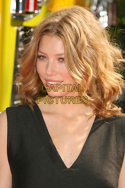 JESSICA BIEL.2007 MTV Movie Awards held at the Gibson Amphitheater, Universal City, California, USA..June 3rd, 2007.headshot portrait black sleeveless .CAP/ADM/RE.©Russ Elliot/AdMedia/Capital Pictures *** Local Caption *** ...