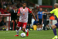 Luther Wildin of Stevenage and Nicky Law of Exeter City during Stevenage vs Exeter City, Sky Bet EFL League 2 Football at the Lamex Stadium on 10th August 2019