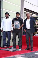 LOS ANGELES - JUN 12:  William Loshawn Calhoun Jr aka WC, Ice Cube, John Singleton at the Ice Cube Star Ceremony on the Hollywood Walk of Fame on June 12, 2017 in Los Angeles, CA