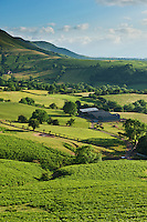 View over common and farm lands From near Hay Bluff, Brecon Beacons national park, Wales