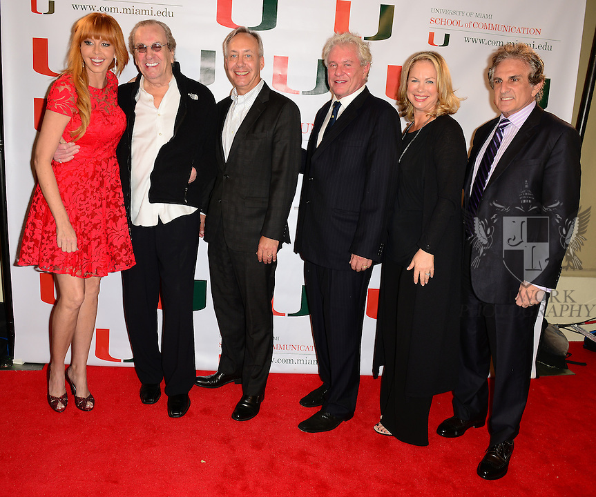 CORAL GABLES, FL - NOVEMBER 20: Rebekah Chaney, Danny Aiello, Gregory J. Shepherd, Tom Berenger, Laura Moretti and John Herzfeld attend the premiere screening Of 'Reach Me' Hosted by University Of Miami inside the BankUnited Center Fieldhouse at University of Miami on Thursday November 20, 2014 in Coral Gables, Florida. (Photo by Johnny Louis/jlnphotography.com)