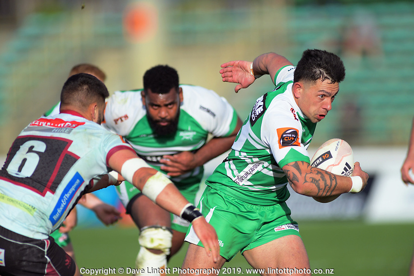 Rob Thompson in action during the Mitre 10 Cup rugby match between Manawatu Turbos and North Harbour at CET Stadium in Palmerston North, New Zealand on Sunday, 29 September 2019. Photo: Dave Lintott / lintottphoto.co.nz