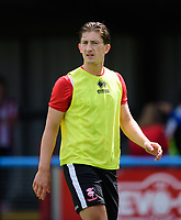 Lincoln City's Alex Woodyard during the pre-match warm-up <br /> <br /> Photographer Chris Vaughan/CameraSport<br /> <br /> Football - Pre-Season Friendly - Lincoln United v Lincoln City - Saturday 8th July 2017 - Sun Hat Villas Stadium - Lincoln<br /> <br /> World Copyright &copy; 2017 CameraSport. All rights reserved. 43 Linden Ave. Countesthorpe. Leicester. England. LE8 5PG - Tel: +44 (0) 116 277 4147 - admin@camerasport.com - www.camerasport.com