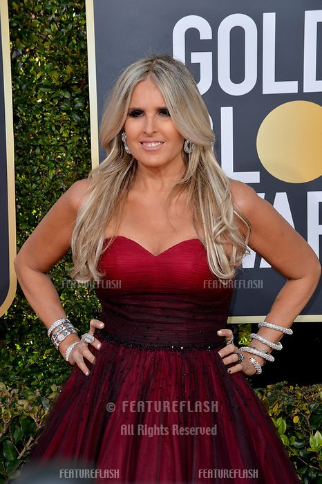 LOS ANGELES, CA. January 06, 2019: Tiziana Rocca at the 2019 Golden Globe Awards at the Beverly Hilton Hotel.<br /> Picture: Paul Smith/Featureflash