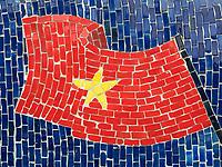 Hanoi Ceramic Mosaic Mural. It is the world's largest ceramic mosaic built from ceramic tesserae.
