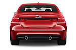 Straight rear view of 2016 Jaguar XF R-Sport 4 Door Sedan Rear View  stock images
