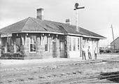 D&amp;RGW Antonito depot; trackside view.<br /> D&amp;RGW  Antonito, CO