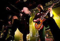 SAXON live at Glasgow ABC<br /> <br /> Biff Byford &ndash; vocals (1976&ndash;present)<br /> Paul Quinn &ndash; guitars, (1976&ndash;present)<br /> Nigel Glockler &ndash; drums (1981&ndash;1987, 1988&ndash;1999, 2005&ndash;present)<br /> Nibbs Carter &ndash; bass (1988&ndash;present)<br /> Douglas Scarratt &ndash; guitars (1996&ndash;present)<br /> <br /> Saxon are an English heavy metal band formed in 1976, in Barnsley, South Yorkshire. As one of the leaders of the New Wave of British Heavy Metal, they had eight UK Top 40 albums in the 1980s including four UK Top 10 albums and two Top 5 albums. The band also had numerous singles in the UK Singles Chart and chart success all over Europe and Japan, as well as success in the US. During the 1980s Saxon established themselves as one of Europe's biggest metal acts. The band tours regularly and have sold more than 15 million albums worldwide. They are considered one of the classic metal acts and have influenced many bands