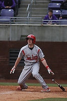 Stony Brook Seawolves infielder Mike Ussery #2 at bat during a game against the East Carolina University Pirates at Clark-LeClair Stadium  on March 4, 2012 in Greenville, NC.  East Carolina defeated Stony Brook 4-3. (Robert Gurganus/Four Seam Images)