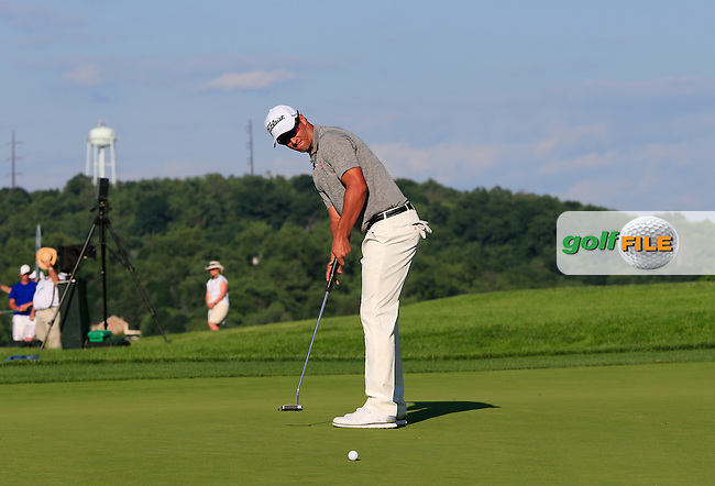 Adam Scott (AUS) putts on the 18th green during Friday's Round 2 of the 2016 U.S. Open Championship held at Oakmont Country Club, Oakmont, Pittsburgh, Pennsylvania, United States of America. 17th June 2016.<br /> Picture: Eoin Clarke | Golffile<br /> <br /> <br /> All photos usage must carry mandatory copyright credit (&copy; Golffile | Eoin Clarke)