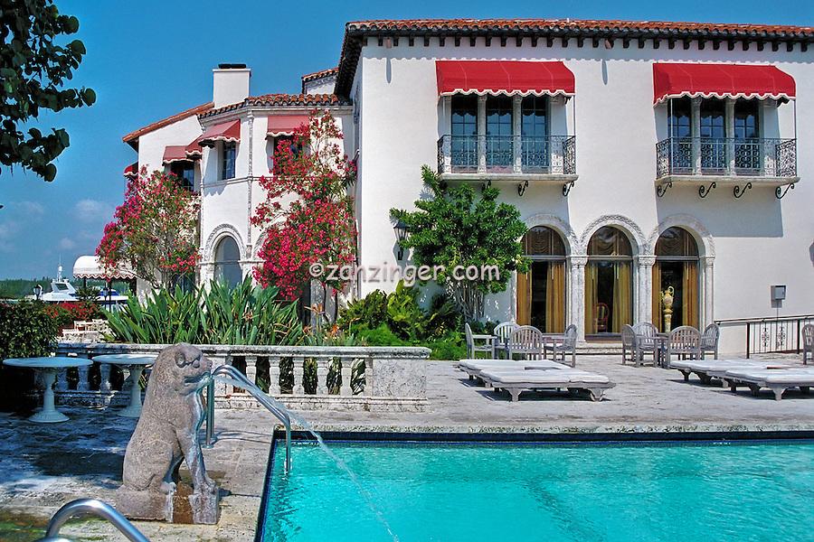 Fisher Island, Miami, FL, Vanderbilt Mansion, Computer CGI Interior,