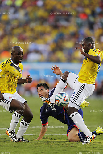 Shinji Okazaki (JPN), JUNE 24, 2014 - Football / Soccer : FIFA World Cup Brazil 2014 Group C match between Japan 1-4 Colombia at the Arena Pantanal in Cuiaba, Brazil. (Photo by AFLO)