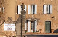 Chateau Villerambert-Julien near Caunes-Minervois. Minervois. Languedoc. The gate. France. Europe.