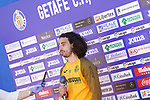 Getafe's Marc Cucurella in press conference after training session. May 19,2020.(ALTERPHOTOS/Acero)