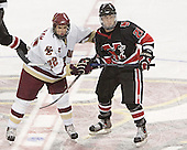 Dan Bertram, Joe Vitale - The Boston College Eagles defeated Northeastern University Huskies 5-3 on Saturday, November 19, 2005, at Kelley Rink in Conte Forum at Chestnut Hill, MA.