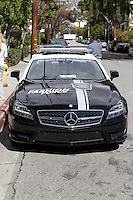 Fashio Police<br /> Los Angeles<br /> February 26 2011<br /> Geri Hirsch, from Becauseimaddicted.net, use the 2012 Mecedes Benz cls63 AMG to do the Fashion Police in Los Angeles, from West Hollywood to Silver Lake<br /> ID revpix110227991<br /> All Pictures <br /> LouisDelavenne/revolutionpix/Becauseimaddicted.net