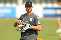 Laurie Evans of Surrey warms up prior to Essex Eagles vs Surrey, Vitality Blast T20 Cricket at The Cloudfm County Ground on 11th September 2020