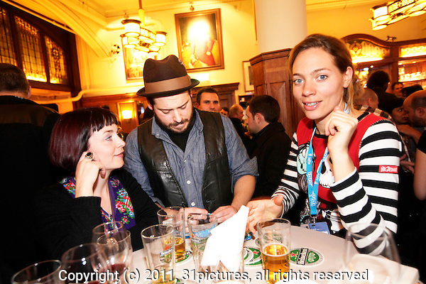 The Netherlands, Amsterdam, 23 November 2011. The International Documentary Film Festival Amsterdam 2011. Guest meet Guests Cinema Chile Drink in Schiller Brasserie. Photo: 31pictures.nl / (c) 2011, www.31pictures.nl