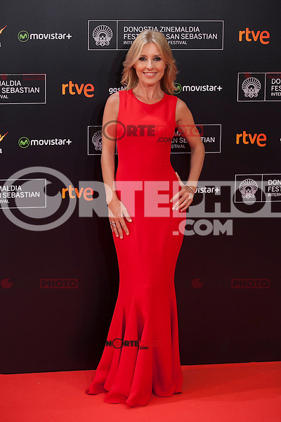 Cayetana Guillen Cuervo poses before 63rd Donostia Zinemaldia opening ceremony (San Sebastian International Film Festival) in San Sebastian, Spain. September 18, 2015. (ALTERPHOTOS/Victor Blanco) /NortePhoto.com