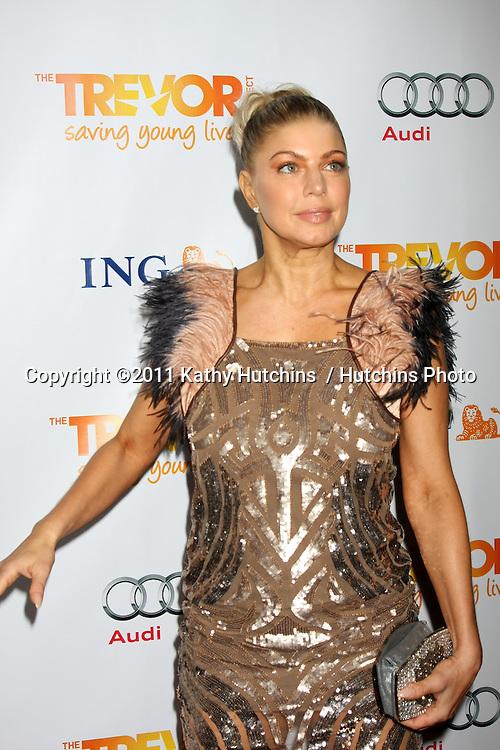 "LOS ANGELES - DEC 4:  Fergie arrives at ""The Trevor Project's 2011 Trevor Live!"" at Hollywood Palladium on December 4, 2011 in Los Angeles, CA"