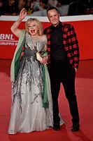 Sandra Milo and Alessandro Rorato <br /> Pavarotti Red Carpet<br /> Roma 18/10/2019 Auditorium Parco della Musica <br /> Rome Film festival <br /> Photo Andrea Staccioli / Insidefoto