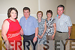 June O'Donoghue, Tony O'Donoghue, Marie Williams, Ann Moynihan and Thomas Moynihan. enjoying the Radio Kerry Concert 'All Irish' at the Brandon Hotel on Monday