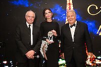 Fr&eacute;d&eacute;ric Mitterrand, Lola Karimova-Tillyyaeva &amp; Massimo Gargia : &quot; The Best &quot; 40th Edition &agrave; l'h&ocirc;tel George V.<br /> France, Paris, 27 janvier 2017.<br /> ' The Best ' 40th Edition at the George V hotel in Pais.<br /> France, Paris, 27 January 2017