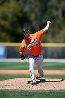 Baltimore Orioles pitcher Travis Seabrooke (88) delivers a pitch during a minor league Spring Training game against the Minnesota Twins on March 17, 2017 at the Buck O'Neil Baseball Complex in Sarasota, Florida.  (Mike Janes/Four Seam Images)