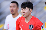 Son Heungmin of South Korea enters the pitch prior to the AFC Asian Cup UAE 2019 Group C match between South Korea (KOR) and China (CHN)  at Al Nahyan Stadium on 16 January 2019 in Abu Dhabi, United Arab Emirates. Photo by Marcio Rodrigo Machado / Power Sport Images