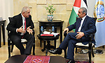 Palestinian Prime Minister Mohammad Ishtayeh meets with Russian Ambassador to Palestine Gocha Boachidze, in the West Bank city of Ramallah, August 8, 2019. Photo by Prime Minister Office