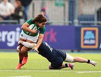 2nd February 2020; Energia Park, Dublin, Leinster, Ireland; International Womens Rugby, Six Nations, Ireland versus Scotland; Sene Naoupu (Ireland) is tackled by Hannah Smith (Scotland)