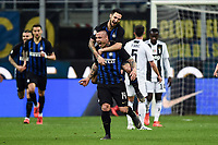 Radja Nainggolan of Internazionale celebrates after scoring goal of 1-0 <br /> Milano 27-04-2019 Stadio Giuseppe Meazza <br /> Football Serie A 2018/2019 FC Internazionale - Juventus FC <br /> photo Image Sport / Insidefoto