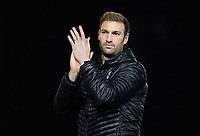 Lincoln City's first team coach/under 23 manager Jamie McCombe applauds the fans at the final whistle<br /> <br /> Photographer Chris Vaughan/CameraSport<br /> <br /> The EFL Checkatrade Trophy Northern Group H - Lincoln City v Wolverhampton Wanderers U21 - Tuesday 6th November 2018 - Sincil Bank - Lincoln<br />  <br /> World Copyright © 2018 CameraSport. All rights reserved. 43 Linden Ave. Countesthorpe. Leicester. England. LE8 5PG - Tel: +44 (0) 116 277 4147 - admin@camerasport.com - www.camerasport.com