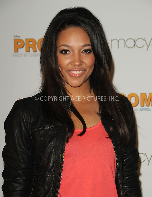 WWW.ACEPIXS.COM . . . . . ....April 22 2011, Los Angeles....Kylie Bunbury from the cast of Walt Disney Pictures' 'Prom,' at Macy's at the Glendale Galleria on April 22, 2001 in Glendale, California....Please byline: PETER WEST - ACEPIXS.COM....Ace Pictures, Inc:  ..(212) 243-8787 or (646) 679 0430..e-mail: picturedesk@acepixs.com..web: http://www.acepixs.com