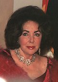 Washington, DC - December 31, 1999 -- Elizabeth Taylor waits for the Clintons at the White House on 31 December, 1999..Credit: Ron Sachs / CNP
