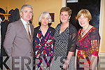 SUPPORTERS CLUB: Having a great time at the Kerry Supporters Club annual dinner at the Ballygarry House hotel and Spa on Saturday l-r: Mike O'Halloran, Breda King, Teresa O'Leary and Geraldine King.