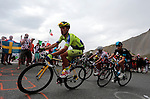 101 Tour de France 2014 - <br /> Rafal Majka (POL) competes during stage fourteenth of the cycling road race 'Tour de France' at Col d'Izoard, on July 19, 2014.