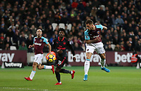 West Ham United's Marko Arnautovic scores but the goal was disallowed for offside<br /> <br /> Photographer Rob Newell/CameraSport<br /> <br /> The Premier League - West Ham United v Arsenal - Wednesday 13th December 2017 - London Stadium - London<br /> <br /> World Copyright &copy; 2017 CameraSport. All rights reserved. 43 Linden Ave. Countesthorpe. Leicester. England. LE8 5PG - Tel: +44 (0) 116 277 4147 - admin@camerasport.com - www.camerasport.com